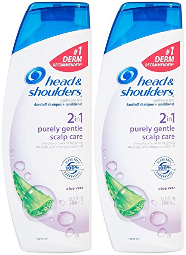 Head & Shoulders Purely Gentle Scalp Care 2-in-1 Dandruff Shampoo and Conditioner - 13.5 oz - 2 pk - Gentle Care Hypoallergenic Shampoo