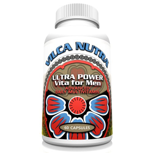 Men's Multi Vitamin Complex - Iron Free - Whether You are 40+ or 50+ One Daily Intake of Vitamins - Minerals - Antioxidants and Herbs Specifically Formulated for Men's Needs Ultra Power Vita for Men can Enhance Your Vitality and Endurance and Help You Achieve and Maintain Your Health Goals!