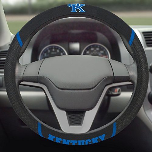 FANMATS NCAA University of Kentucky Wildcats Polyester Steering Wheel Cover -