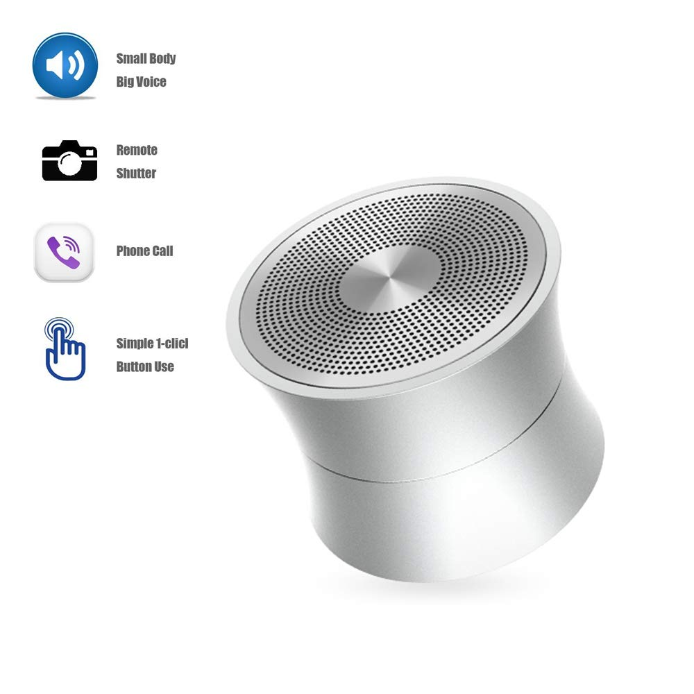 HYASIA Portable Wireless Bluetooth Speaker Superb HD Sound Bass Mini Stereo Outdoor SpeakerPerfect Portable Wireless Speaker for Travel, Home, Hiking and More