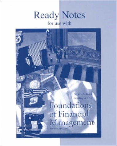 Ready Notes for Use With Foundations of Financial Management