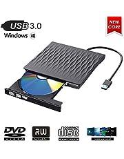 ShangQia External CD DVD Drive, USB 3.0 Ultra Slim Portable CD DVD Writer Burner Player,External Optical Disc Drives for PC,Desktop and Laptop,Support Windows XP/Win7/8/10/Vista/Linux/Mac OS