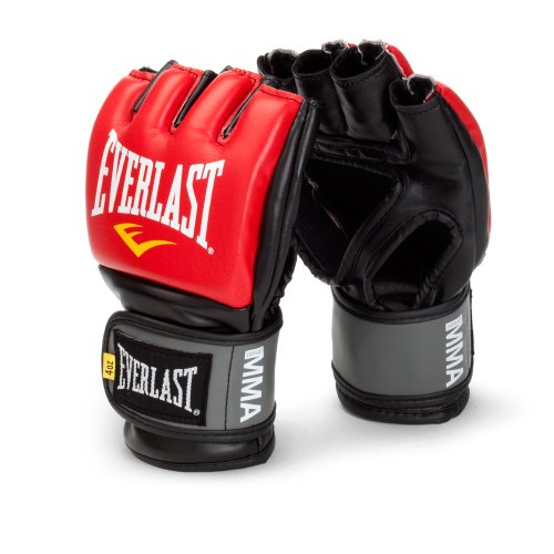 Everlast Pro Style MMA Grappling Gloves, Large/Xtra Large, (Red) from Everlast