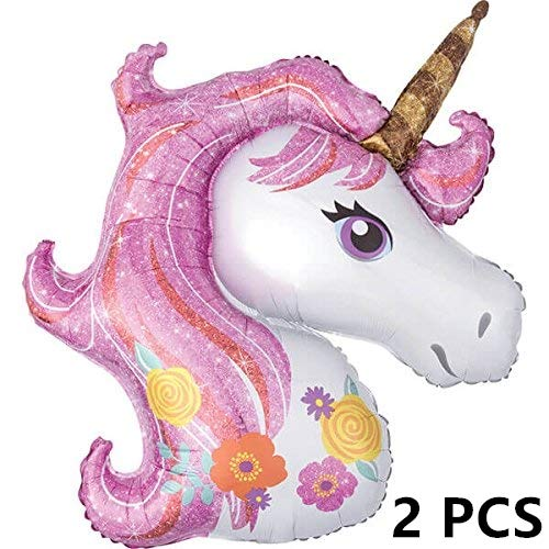 Unicorn Balloon 2 Pcs Large Helium Balloons Decorations,Foil Balloon,Two 44
