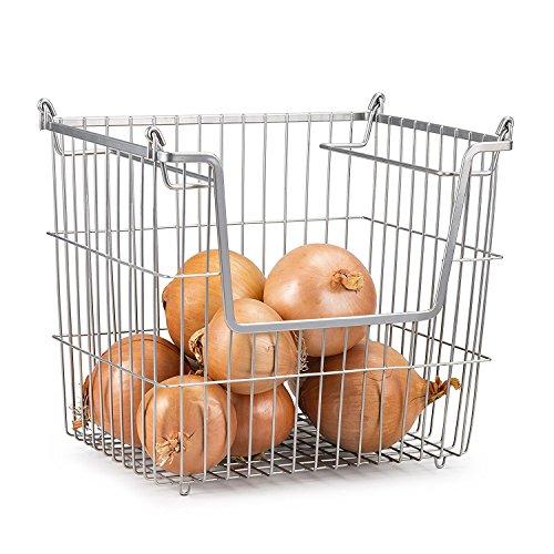 Home Basics Stackable Metal Pantry Organizer Basket by Home Basics (Image #1)