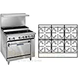 Imperial Commercial Restaurant Range 36 Step Up With 6 Burners 1 Standard Oven Natural Gas Ir-6-Su