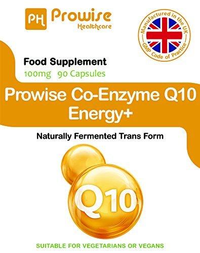 Prowise Co-Enzima Q10 (CoQ10) 100mg 90 cápsulas vegetarianas - Rápida liberación de alta absorción - Reino Unido Fabricado GMP Calidad Asegurada Co-Q-10 ...