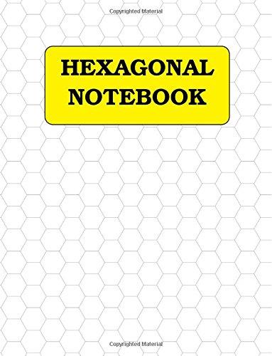Hexagonal graph paper: 1 cm hexagons, 120 pages