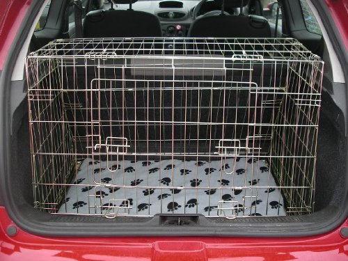 Arrow RENAULT CLIO 05-09 SLOPING CAR DOG CAGE BOOT TRAVEL CRATE PUPPY GUARD