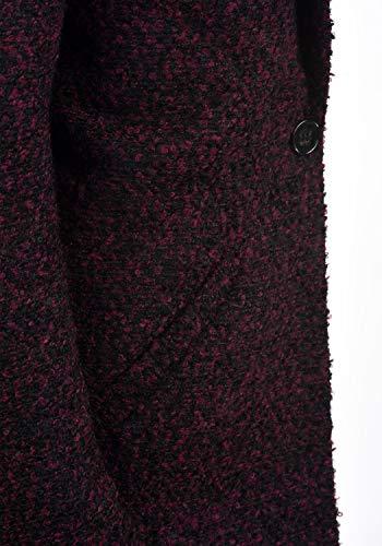 De Da Cappotto Con Parka Classico Red Revers Jacqueline Lana Giacca Di Yong Lunga Plum Invernale Donnacollo Berta AqdpPw