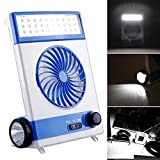 Solar Power AC Rechageable 2-in-1 Camping Cool Fan Light Tent LED Lantern Cooler