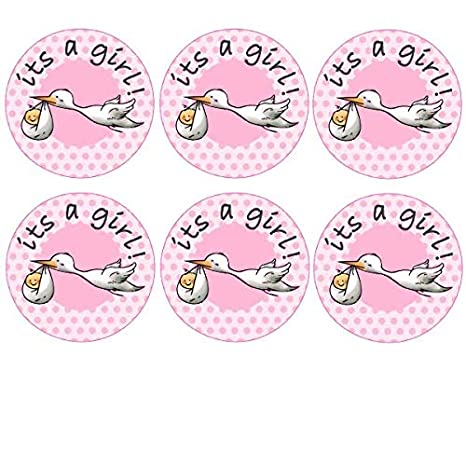 35 x Pre Cut su de un Girl Baby Shower Cigüeña Cup Cake - Hada de tartas/Decoración comestible Wafer Papel: Amazon.es: Hogar