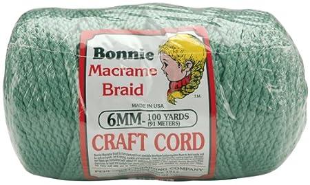 Pepperell 6mm Bonnie Macram/é Craft Cord 100-Yard Burgundy