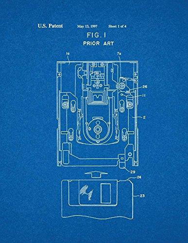 Floppy Disk Patent Print Art Poster Blueprint