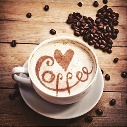 FORESTIME Diamond Painting Full Drill 5D DIY Four Seasons Coffee Cup Rhinestone Gems Embroidery Arts Craft Paint-By-Number Kits Cross Stitch for Home Wall Decoration