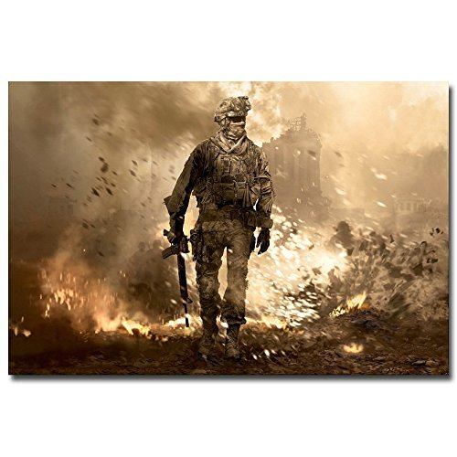 Lawrence Painting Call Of Duty 4 Modern Warfare Art Canvas Poster Print Pictures For Living Room Decor