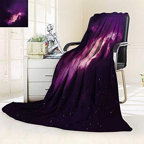 inting Duplex Printed Blanket Stars in The Night Sky Purple Summer Quilt Comforter/59 W by 86.5