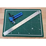 A4 CUTTING MAT 30cm STAINLESS RULE ADJUSTABLE COMPASS PAPER CARD STOCK CUTTER by lube