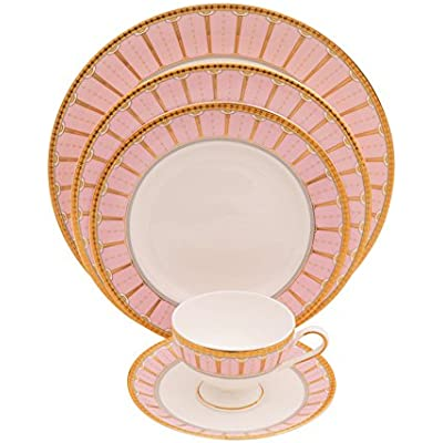 Click for Shinepukur Discovery Bone China Place Settings, Pink, 5 Piece
