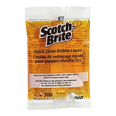 3M Scotch-Brite 700-40 Quick-Clean Griddle Liquid, 3.2-Ounce Packets (Case of 40)