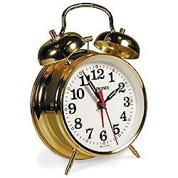 Advance LA CROSSE TECHNOLOGY Landmark Key Wind Twin Bell Brass Alarm Clock