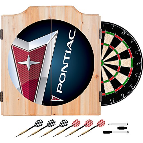 Pontiac Design Deluxe Solid Wood Cabinet Complete Dart Set by TMG