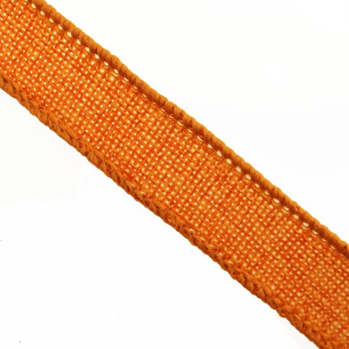 Homeford Faux Burlap Jute Wired Ribbon, Orange, 7/8-Inch by (Orange Ribbon)