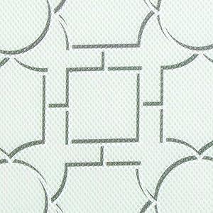 InterDesign iDry Chevron Kitchen Mat, 18 x 16, Gray/White