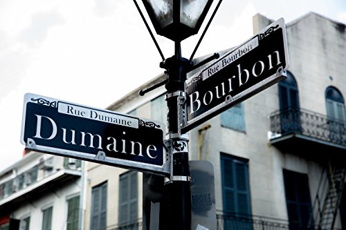 Bourbon Street Photography Art Print - Picture of Street Sign Dumaine and Bourbon in French Quarter New Orleans Home Decor 5x7 to - On Stores Street Bourbon