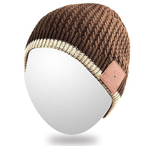 Qshell Unisex Adult Bluetooth Beanie Hat Trendy Soft Warm...