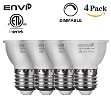 Dimmable Pot Lights Par16 6-watt PAR16/MR16 Short Neck LED COB Flood Bulb for Recessed, Track and Pendant Lighing Fixtures, 60 Degree, 50-watt Equivalent, 500 lumen, AC 120V, E26 Medium Base ELT Listed 5000k Pure White or 2750k Warm White (Warm White 2700k)