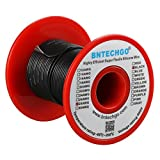 BNTECHGO 28 Gauge Silicone Wire 100 Feet Black Soft and Flexible High Temperature Resistant Highly Efficient 28 AWG Silicone Wire 16 Strands of Tinned Copper Wire