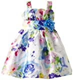 Youngland Girls 2-6X Water Color Floral Tulip Woven Dress, Multi, 6x image