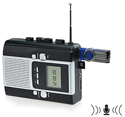Digitnow! Cassette Tape to Mp3 Converter & Radio to Mp3 Recorder with Voice Recording Feature by Rivertech