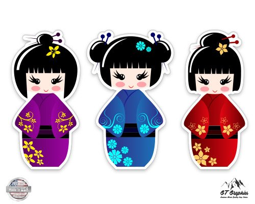 (Cute Geisha Set of 3 - 3