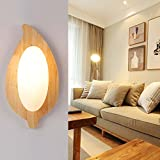 HOMEE Wall lamp- modern creative led europe simple wood art wall lamp bedside wall lamp bedroom balcony aisle living room wall lamp --wall lighting decorations