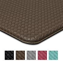 DEXI Kitchen Rug Anti Fatigue,Non Skid Cushioned Comfort Standing Kitchen Mat Waterproof and Oil Proof Floor Runner Mat,...