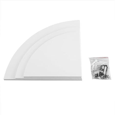 in Stile Nuoto Portata 5 kg Bianco Stile Moderno Supporto angolare Adatto per Home Office 3 Pezzi mensola angolare da Parete Zerone Scaffale angolare Bianco