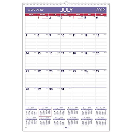 AT-A-GLANCE 2019-2020 Academic Year Wall Calendar, Large, 15-1/2