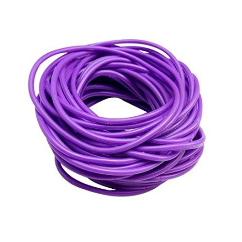 ZAKIA 25pces Mixed Gummy Silicone Wristbands Bracelets Bands Shag Rubber Gummies Bangles Wristbands (Purple) -