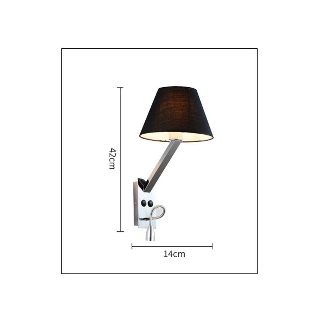 GYR Wall Lamp with Switch Wall Lamp Bedside Bedside Bedside Lamp Bedroom Warm Cloth LED Hotel Bedroom Project Iron Wall Lamp B078J4FYZT | Diversified In Packaging