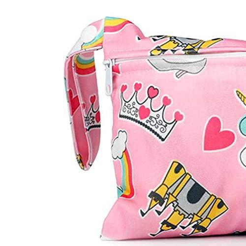 Xuxuou 1 Pcs Baby Wickeltasche Mini Single Zipper Wickeltasche Wasserdichte W/äschetasche der niedlichen Toilettenartikel