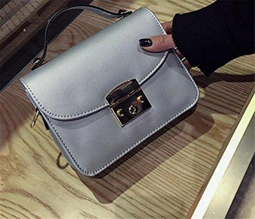 Scrub colori singola Cinque Fashion diagonale lavoro Square verde pacchetto Bao Ladies argento Borsa a tracolla Croce Shopping Small qZW1t