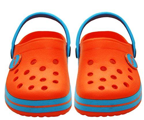 A&H Footwear Jungen Clogs orange / blau