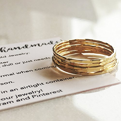 ngs 14k Gold Filled, Dainty Little Plain Bands, Size 10 ()