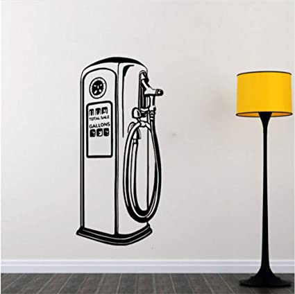 Amazon com: alasijia Gas Pump Wall Decal Car Shop Vinyl Wall