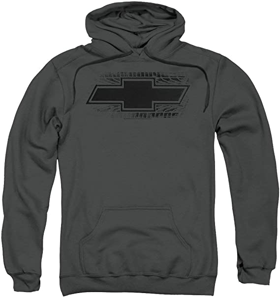 Trevco Chevrolet//Bowtie Burnout Mens Pullover Hoodie