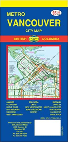 Vancouver Bc Canada Map.Greater Vancouver Bc Canada 1 47 600 Street Map Made In