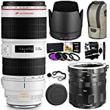 Canon EF 70-200mm f/2.8L IS II USM Zoom Lens + Polaroid Canon EOS Macro Extension Tube Set + Ritz Gear Cleaning Kit & Deluxe Polaroid Accessory Bundle