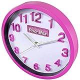 The Original Pink Box PB12WC Round Wall Clock, 10-Inch, Pink